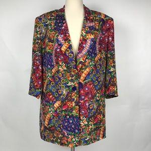 Diane von furstenberg Vintage silk blazer sz 12